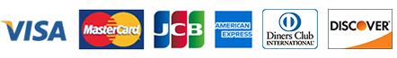 VISA MasterCard JCB AmericanExpress DinersClub DISCOVER